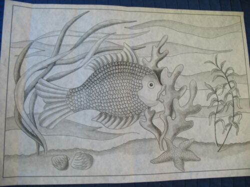 * TRI CHEM 8315 FISH UNDER WATER LIFE  Picture to paint TRICHEM