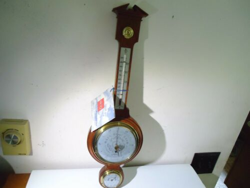 NOS MCM BANJO STYLE SWIFT ANDERSON WEATHER STATION +TAG BAROMETER HUMIDITY TEMP