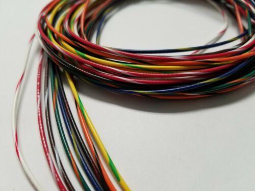 22 AWG Gauge Stranded Hook Up Wire Kit 5 ft Ea 8 Color w/ stripe UL1007 300 Volt