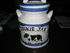 Large Ceramic Cookie Jar Featuring A Black And White Cow