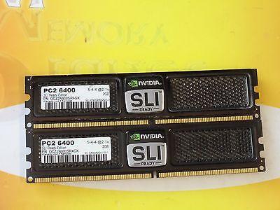 OCZ SLI-READY 4GB 2X2GB DDR2 PC2-6400 800MHz 240-Pin NON ECC RAM OCZ2N800SR4GK