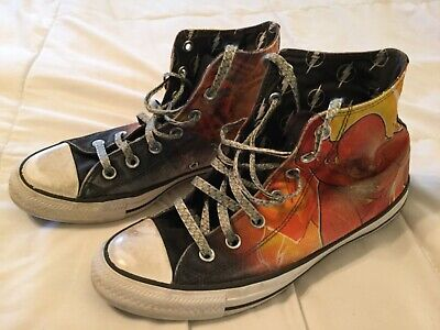 Converse All Star DC Comics The Flash Hi Top Shoes Sneakers Size M 6 W 8 Canvas](Converse All Star Cheap)