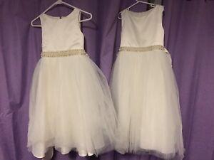 2 Matching Flower Girl Dresses for sale.