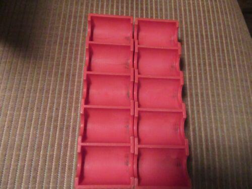 RARE VTG CASINO COIN & TOKEN RED STURDY PLASTIC RACKS/TRAYS (2)