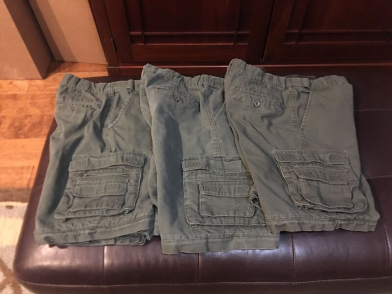 Boy Scouts Of America Uniform Conversion Pants Shorts 14 Youth Lot Of 3