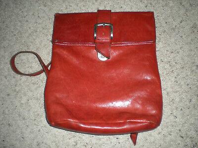 Vintage Leather Backpack Travel Messenger Bag Handmade In Holland