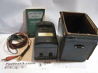 Vintage James G. Biddle Co Megger 500 Volt Insulation Tester Wcase
