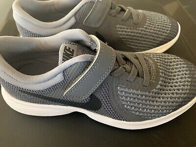 Kids Nike Flex Experience RN 7 (PSV) Running Shoes Grey Size 1Y