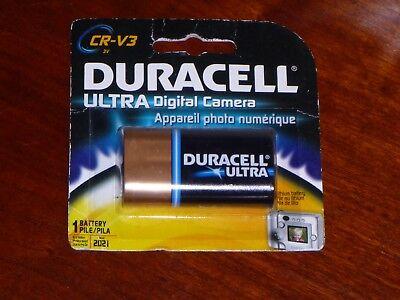 Duracell CR V3 Ultra LITHIUM Digital Camera Battery Exp March 20-21 New V3 Digital Camera Battery