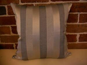 """Scatter Cushion Cover - """"Silver Vertical Stripe"""" Terrigal Gosford Area Preview"""