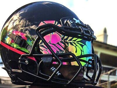 b33ea4ff Under Armour Football Helmet Visor Eye Shield Aloha Hawaii Hawaiian Flower