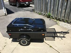 Motorcycle trailer and hitch Like new!!