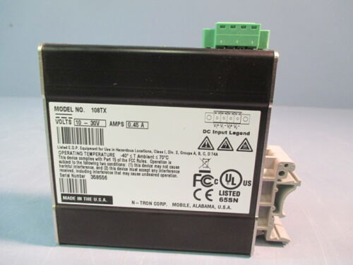 N-Tron Industrial Ethernet Switch 8 Port 10-30V 108TX