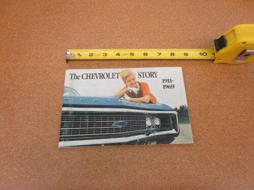 ORIGINAL 1911-1969 The Chevrolet Story booklet sales brochure history photos