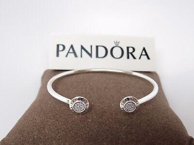 New Pandora Signature Open Bangle  W  Czs  590528Cz Box Available Your Choice