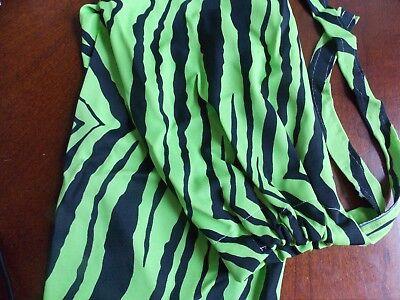 Lime Green Zebra - LYCRA HORSE TAIL BAG--- new LIME GREEN ZEBRA