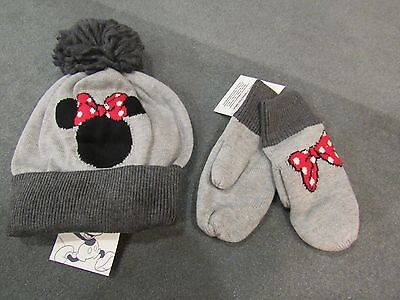 NWT Baby Gap 2 pc Disney Minnie Mouse PomPom HAT & MITTEN SET or MITTENS M/L (Mouse Mittens)