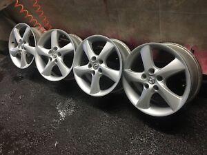 """4 mags 17"""" d'origine Mazda 5x114.3 TRES PROPRES"""