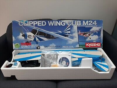 *KYOSHO 1:10 CLIPPED WING CUB M24 RC PLANE READYSET COMPLETE-NMIB*