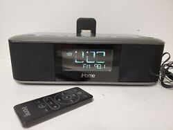 iHome iD95 Alarm Clock Docking Station iPhone iPad Charger Radio 30 Pin Connect
