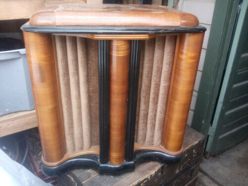 Vintage art deco Zenith radio speaker cabinet *pick up only*