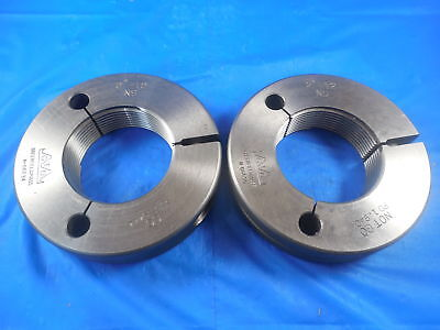 2 12 Ns Thread Ring Gages 2.0 Go No Go P.d.s 1.9444 1.9404 Tools