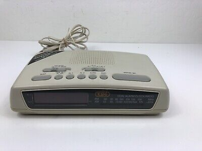 Vintage Retro TOZAI AM/FM Digital Alarm Clock Radio No Remote Tested Model D602