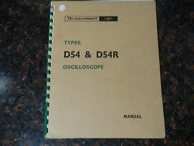 Telequipment D54 D54r Manual
