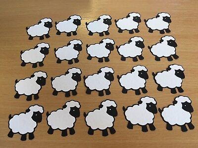 20 QUICKUTZ DIE CUT SHEEP / LAMBS - BLACK & WHITE - READY ASSEMBLED