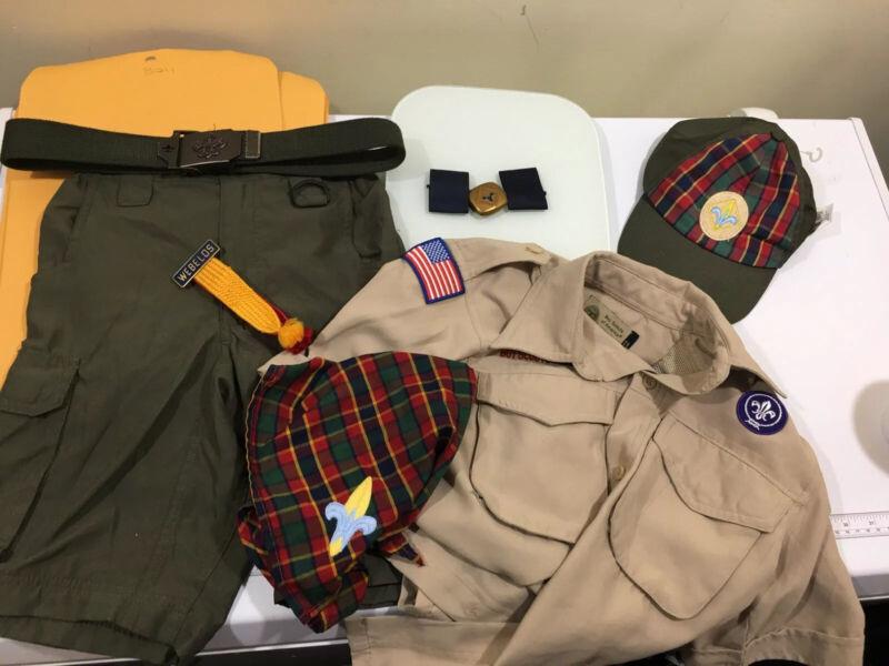 Webelos Cub Scout Uniform S Set Lot Shirt Shorts Hat Neckerchief Slide Belt B011