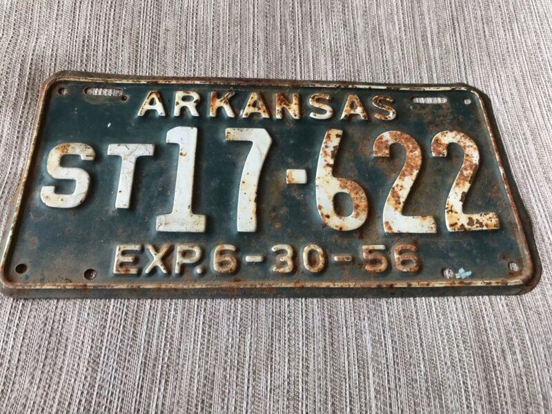 1956  Arkansas License Plate ST 17-622