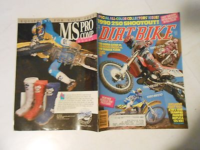 OCTOBER 1989 DIRT BIKE MAGAZINE,250 SHOOTOUT CR,VS RM VS YZ,1ST FULL COLOR ,AMA