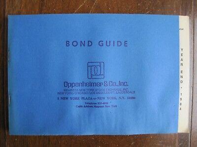 Standard Poor S Bond Guide  For Oppenheimer   Co   Inc  Year End 1984