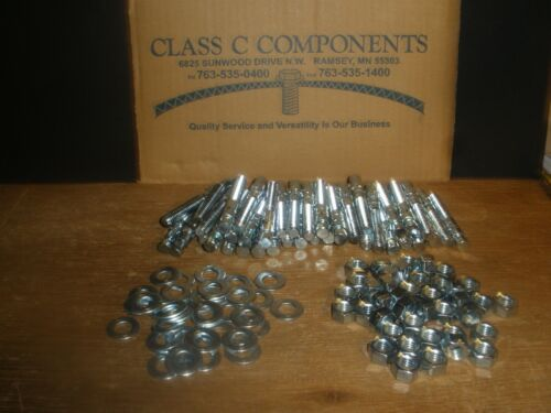 """(Qty.40) 3/8"""" X 3"""" Wedge Anchor Zinc Plated Steel 3/8-16"""