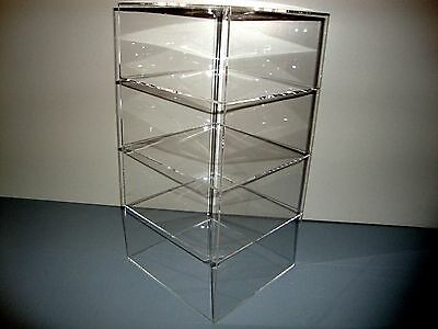 Acrylic Lucite Countertop Display Case Showcase Box Cabinet 8 X 8 X 16