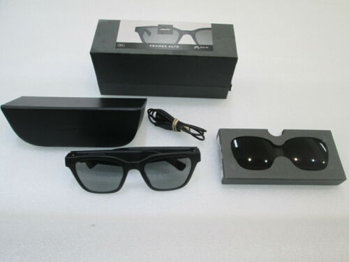 BOSE Frames ALTO M/L - Classic Angular Bluetooth Audio Smart Sunglasses - Black