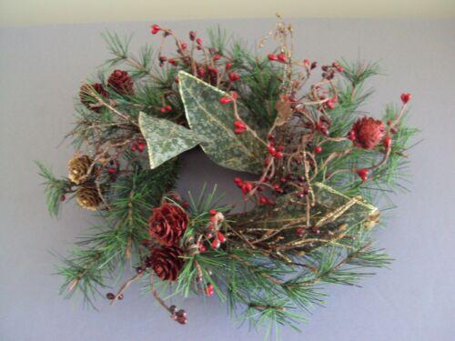 "Small Christmas Artificial Green Wreath 11"" Diameter"