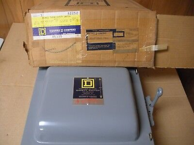 Square D Double Throw Safety Switch 82252 60 Amps New In Box
