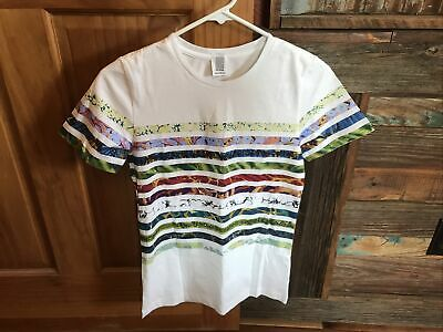 Rosie Assoulin Cotton Swarovski Striped Tee, NWOT, Size XS