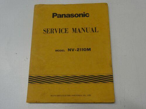 Panasonic U-Vision Video Cassette NV-2110M Service Manual