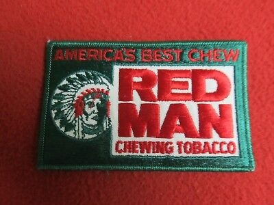Vintage Original Red Man Chewing Tobacco Patch New Old Stock - Ships Free