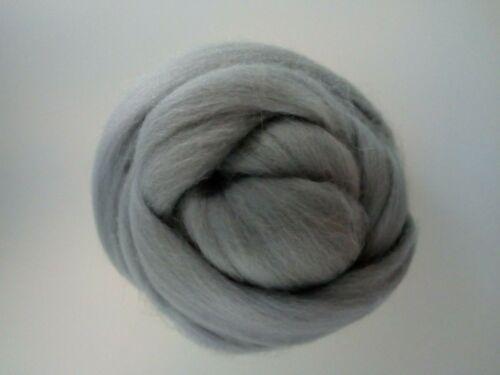 Grey* 100% Merino Wool Roving Tops for Felting 50 g