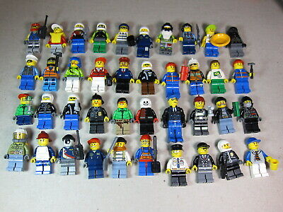 40 Genuine LEGO® Minifigures - Complete with Accessories - Huge Bulk Lot