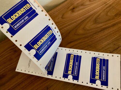 100 Blank BLOCKBUSTER VIDEO Membership Cards!  (Original, Old Store Inventory)