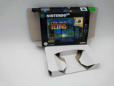 The New Tetris - reproduction box with insert - N64 - Pal or NTSC REGION.