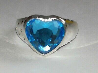 Damen Ring 925 Silber Farbe blau Damenschmuck Woman🎁 NEU