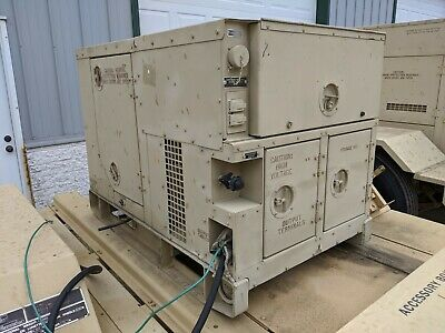 Mep-802a Military Diesel Generator 5kw 13 Phase Load Tested Reset Low Hour Onan