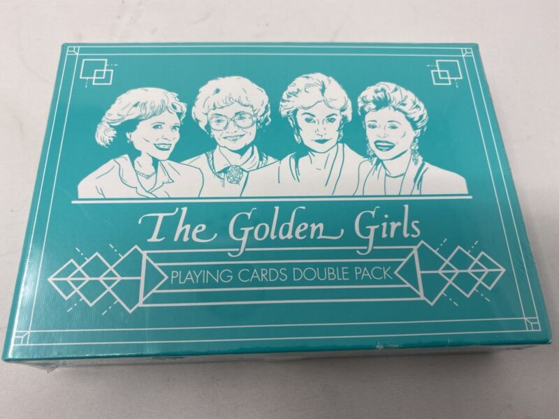 The Golden Girls Playing Cards Double Pack by USAOpoloy Brand New Sealed