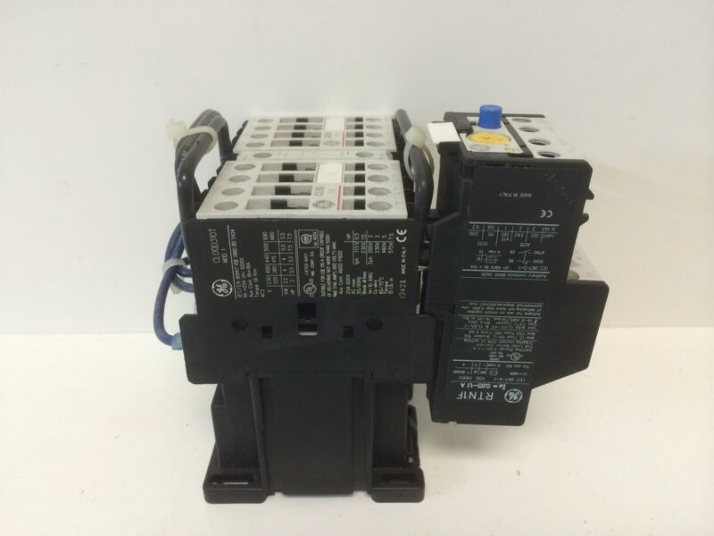 NEW GE GENERAL ELECTRIC REVERSING STARTER CONTACTOR LDR00AD WITH RTN1F