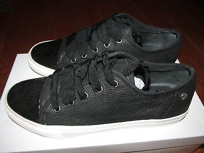 Isaac Mizrahi Live Lounge1 SOHO Leather Sneakers Womens Size 6.5 Medium Black